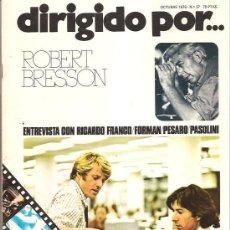 Cine: DIRIGIDO POR… Nº 37 – ROBERT BRESSON. Lote 25770892