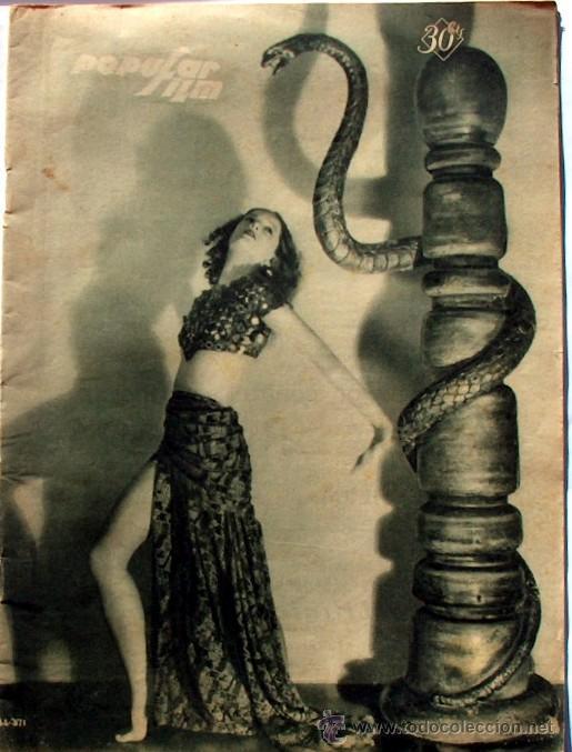 ANTIGUA REVISTA DE CINE POPULAR FILM Nº175 5 DICIEMBRE 1929, (Cine - Revistas - Popular film)