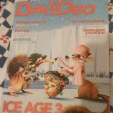 Cine: REVISTA 'DEVÍDEO', Nº 96. DICIEMBRE 2009. 'ICE AGE 3' EN PORTADA.. Lote 16494867