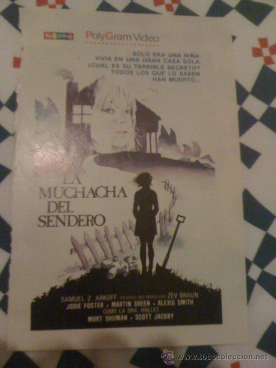 CARTEL DE 'LA MUCHACHA DEL SENDERO', CON JODIE FOSTER. RECORTE DE PRENSA. (Cine - Reproducciones de carteles, folletos...)