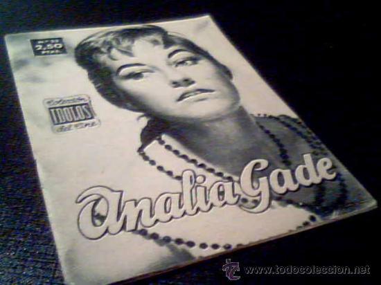ANALIA GADE. COLECCION IDOLOS DEL CINE. Nº 23. UNION DISTRIBUIDORA DE EDCIONES, 1958. FOTOS. (Cine - Revistas - Colección ídolos del cine)