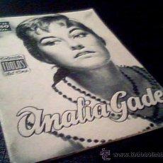 Cine: ANALIA GADE. COLECCION IDOLOS DEL CINE. Nº 23. UNION DISTRIBUIDORA DE EDCIONES, 1958. FOTOS.. Lote 12552968