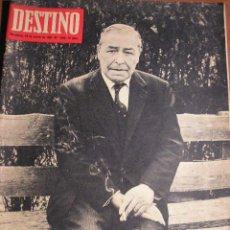 Cine: JOSE PLA DESTINO Nº 1545 MARZO 1967 CASTILLA LUJAN LITERATURA PROSA MATUTE ORQUESTA BARCELONA PORCE. Lote 26217093