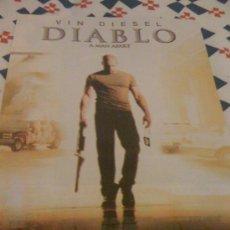 Cine: 'DIABLO', CON VIN DIESEL. RECORTE DE PRENSA.. Lote 17511582