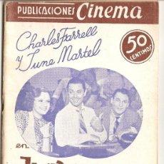 Cine: PUBLICACIONES CINEMA - Nº 11 - JUVENTUDES RIVALES. Lote 27473467