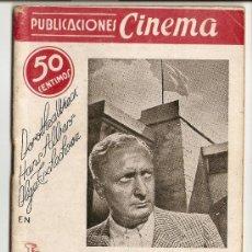 Cine: PUBLICACIONES CINEMA - Nº 5 - LA BANDERA AMARILLA. Lote 27450871