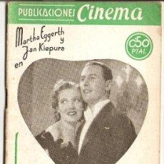 Cine: PUBLICACIONES CINEMA - Nº 4 - LA VIDA DE LA BOHEME. Lote 27500589