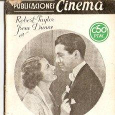 Cine: PUBLICACIONES CINEMA - Nº 1 - SUBLIME OBSESIÓN. Lote 27500590