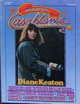 PAPELES DE CINE: CASABLANCA Nº 22 OCT 1982, DIANE KEATON, ALAN PARKER, INGRID BERGMAN, VENECIA 82 (Cine - Revistas - Papeles de cine)