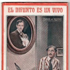 Cine: BIBLIOTECA FILMS NACIONAL AÑO III Nº 23. EL DIFUNTO ES UN VIVO. EDITORIAL ALAS BARCELONA. Lote 18164548