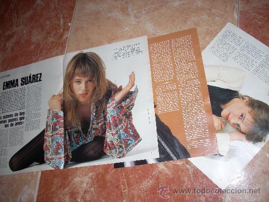 ENTREVISTA A ENMA SUÁREZ. 5 DE ABRIL DE 1992. 6 PÁGINAS. RECORTE DE PRENSA. (Cine - Revistas - Otros)