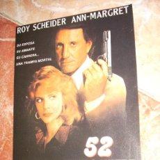 Cine: '52 VIVE O MUERE', CON ROY SCHEIDER. RECORTE DE PRENSA.. Lote 18500248
