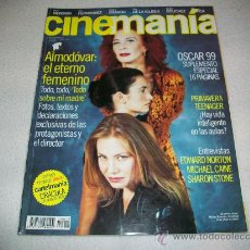Cine: CINEMANIA Nº 43 - ABRIL 99 - PORTADA TODO SOBRE MI MADRE DE ALMODOVAR - PENELOPE CRUZ-MARISA PAREDES. Lote 44087501