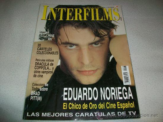 REVISTA INTERFILMS - Nº 129 - PORTADA EDUARDO NORIEGA - EL CHICO DE ORO DEL CINE ESPAÑOL / 1999 (Cine - Revistas - Interfilms)