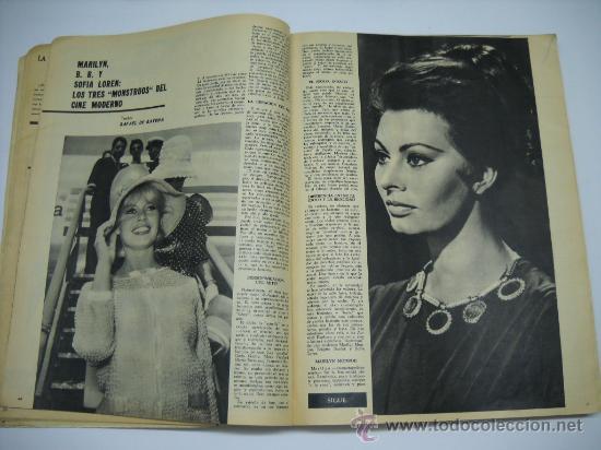 Cine: CINE . RADIOCINEMA . 1938 1963 . REVISTA DECANA BODAS DE PLATA 575-576 , MARISOL ,MARILYN MONROE .. - Foto 5 - 18753928