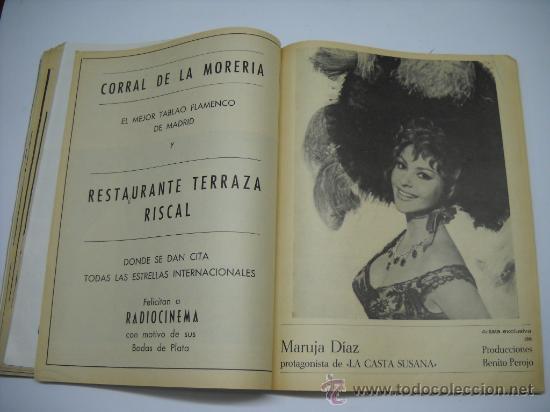 Cine: CINE . RADIOCINEMA . 1938 1963 . REVISTA DECANA BODAS DE PLATA 575-576 , MARISOL ,MARILYN MONROE .. - Foto 12 - 18753928