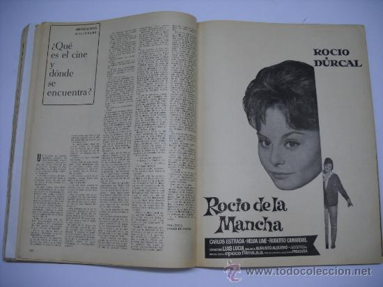 Cine: CINE . RADIOCINEMA . 1938 1963 . REVISTA DECANA BODAS DE PLATA 575-576 , MARISOL ,MARILYN MONROE .. - Foto 13 - 18753928