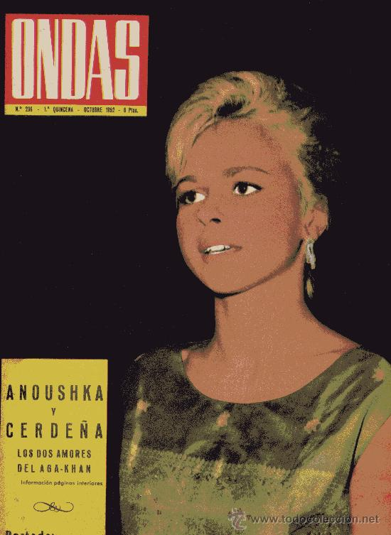ONDAS Nº236 (1962) (RADIO)JOSÉ GUARDIOLA, SHIRLEY MAC LAINE, NIETOS DE FRANCO, DUQUESA DE ALBA... (Cine - Revistas - Ondas)
