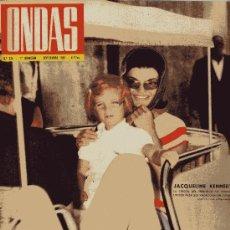 Cine: ONDAS Nº234 (1962) (RADIO) PERÓN, JACKELINE KENNEDY, COCO CHANEL, ROBERT TAYLOR, EDITH PIAF.... Lote 18762078