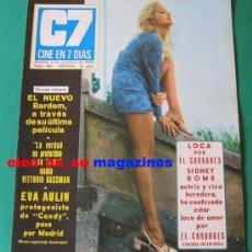Cine: CINE EN 7 DIAS #443/1969 SYDNE ROME~EWA AULIN~VITTORIO GASSMAN~ANNY QUINTAS~JACKIE JOCELYN LANE. Lote 27165529