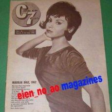Cine: CINE EN 7 DIAS #56/1962 MARUJITA DIAZ~SOFIA LOREN~MARLENE DIETRICH~CESAR ROMERO~JAMES MASON. Lote 27144197