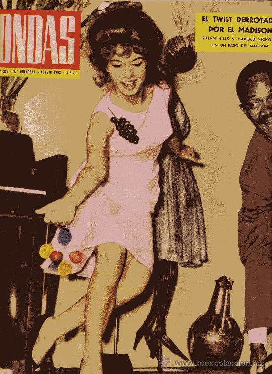 ONDAS Nº233 (1962) (RADIO) TWIST, Mª JESÚS CUADRA, BALDUINO Y FABIOLA,ROGER VADIM, MARILYN MONROE... (Cine - Revistas - Ondas)