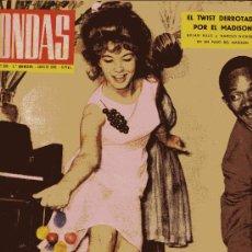 Cine: ONDAS Nº233 (1962) (RADIO) TWIST, Mª JESÚS CUADRA, BALDUINO Y FABIOLA,ROGER VADIM, MARILYN MONROE.... Lote 18798138