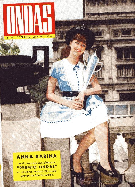 ONDAS Nº231 (1962) (RADIO) AUDREY HEPBURN, PAUL ANKA, JAYNE MANSFIELD, ROSARIO Y ANTONIO, GRACE MON (Cine - Revistas - Ondas)