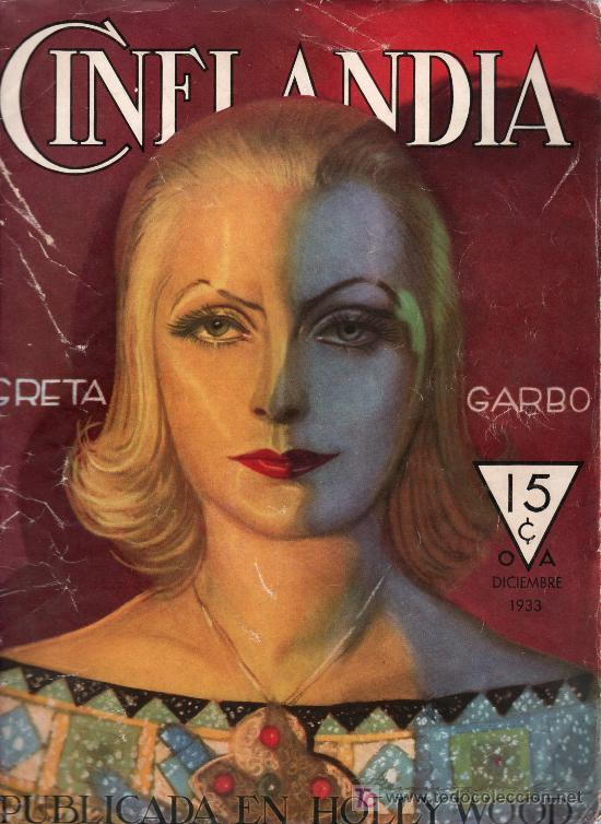 CINELANDIA. GRETA GARBO. DICIEMBRE 1933. PUBLICADA EN HOLLYWOOD. (Cine - Revistas - Cinelandia)