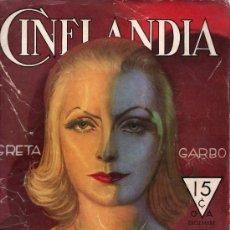 Cine: CINELANDIA. GRETA GARBO. DICIEMBRE 1933. PUBLICADA EN HOLLYWOOD.. Lote 18886167