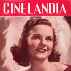 Cinéma: CINELANDIA. JUNIO 1938. PUBLICADA EN HOLLYWOOD. DEANNA DURBIN.. Lote 18886184