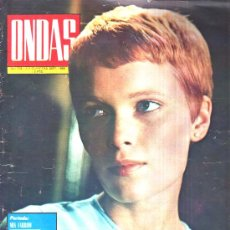 Cinéma: ONDAS : 1968 Nº 378 , ARTICULO A BRIGITTE BARDOT , REPORTAJE A MASSIEL. Lote 19103548