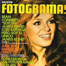 Cine: FOTOGRAMAS Nº 1217 ** 1972 - SEAN CONNERY / JULIE EGE / FOTOGRAMAS DE PLATA. Lote 19360640
