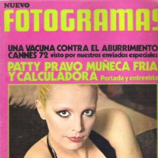 Cine: FOTOGRAMAS Nº 1231 ** MAYO 1972 - PATTY PRAVO / CANNES 72 / POSTER ROCIO DURCAL **. Lote 19362316