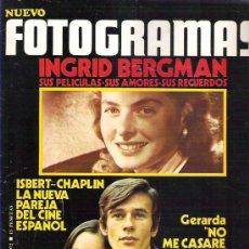 Cine: FOTOGRAMAS Nº 1219 * FEB 1972 - ISBERT CHAPLIN / GERARDA / TWIGGY POSTER **. Lote 19362426