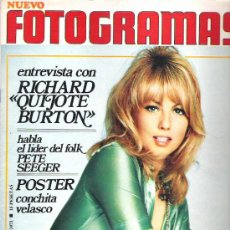 Cine: FOTOGRAMAS Nº 1166 ** FEB 1971 * POSTER CONCHITA VELASCO / RICHARD BURTON / CHAMBERLAND*. Lote 19362436