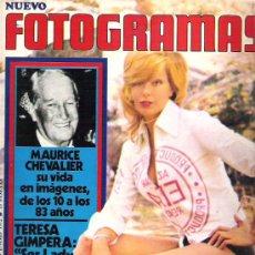 Cine: FOTOGRAMAS Nº 1213 FEB 72 ** TERESA GIMPERA / CHEVALIER / MONICA VITI **. Lote 19362629