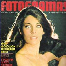 Cine: FOTOGRAMAS Nº 1481 - JACK NICHOLSON / JACQUELINE BISSET / BRIAN DE PALMA **. Lote 19362739
