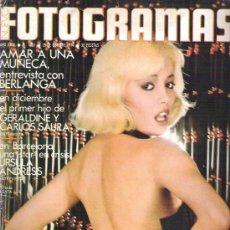 Cine: FOTOGRAMAS Nº 1358 - BERLANGA / GERALDINE Y CARLOS SAURA / URSULA ANDRESS / TODAS PELICULAS 74 - 75. Lote 19362781