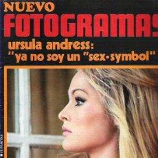 Cine: FOTOGRAMAS Nº 1162 ** ENE 1971 - URSULA ANDRESS / MASSIMO RANIERI / JEAN PAUL. Lote 19366474