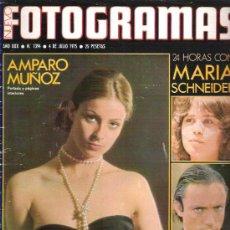 Cine: FOTOGRAMAS Nº 1394 * JULIO 1975 - AMPARO MUÑOZ / MARINA SCHNEIDER / UDO KIER /. Lote 174668950