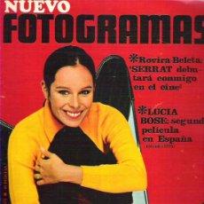 Cine: FOTOGRAMA Nº 1073 - MAYO 1969 ** GERALDINE CHAPLIN / LUCIA BOSE / ROVIRA BELTA SERRAT. Lote 19371469