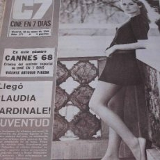 Cine: REVISTA CINE EN 7 DIAS FIONA LEWIS Y CONTRA PORTADA GINA LOLLOBRIGIDA. Lote 27465955