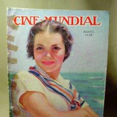 Cine: REVISTA CINE MUNDIAL, AGOSTO 1935, SYLVIA SIDNEY, ESTRENOS, PUBLICIDADES DE LA EPOCA. Lote 19560165