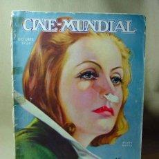 Cine: REVISTA CINE MUNDIAL, OCTUBRE 1934, GRETA GARBO, ESTRENOS, PUBLICIDADES DE LA EPOCA, KELLOGGS. Lote 19560229
