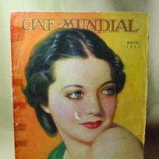 Cine: REVISTA CINE MUNDIAL, MAYO 1932, SYLVIA SIDNEY, ESTRENOS, PUBLICIDADES DE LA EPOCA, KODAK, QUAKER. Lote 19560319