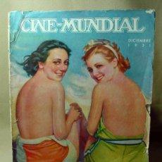 Cine: REVISTA CINE MUNDIAL, DICIEMBRE 1931, ANN DEVORAK Y MARJORIE KING, ESTRENOS. Lote 19560373
