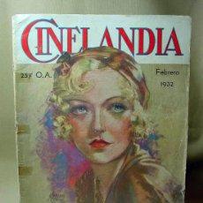 Cine: REVISTA CINELANDIA, FEBRERO 1932, MARION DAVIES, ESTRENOS, PUBLICIDADES, IPANA, DOLORES DEL RIO. Lote 19560434
