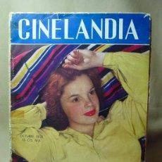 Cine: REVISTA CINELANDIA, OCTUBRE 1939, JUDY GARLAND, ESTRENOS, PUBLICIDADES DE LA EPOCA. Lote 19560550