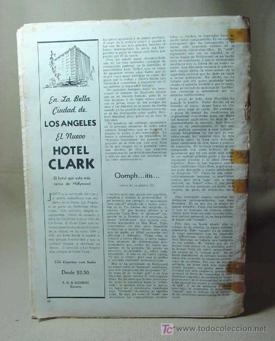 Cine: REVISTA CINELANDIA, OCTUBRE 1939, JUDY GARLAND, ESTRENOS, PUBLICIDADES DE LA EPOCA - Foto 3 - 19560550